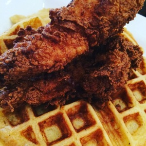 crafted chicken and waffles