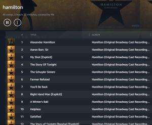 amazon prime music - hamilton