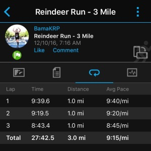 reindeer run - splits