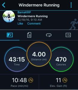 4 mile training run