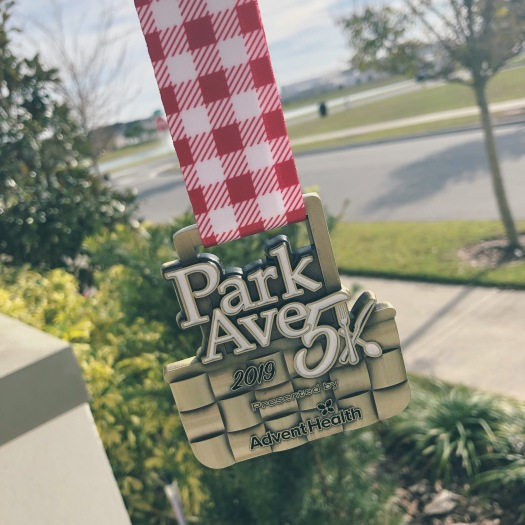 medal from the park ave 5k