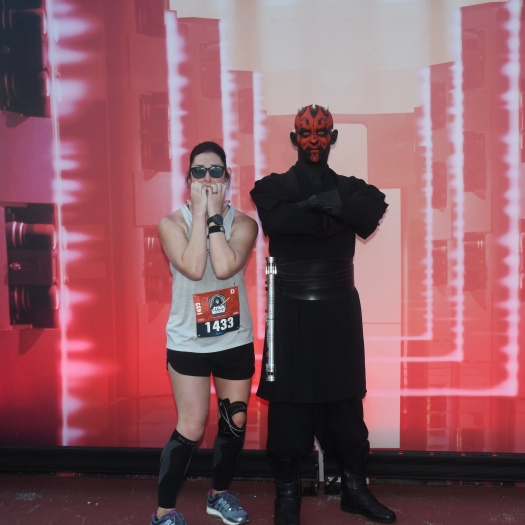 picture with darth maul on the race course